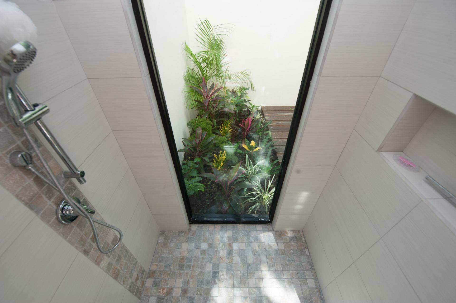 Bathroom with a view of jungle